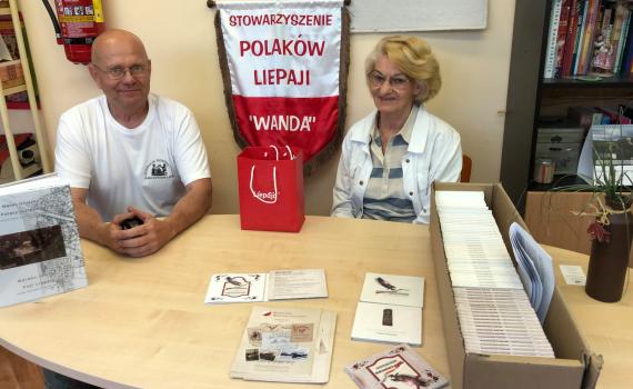 """Jacek """"Wiejski"""" Górski w Stowarzyszeniu Polaków Liepaji """"Wanda"""""""